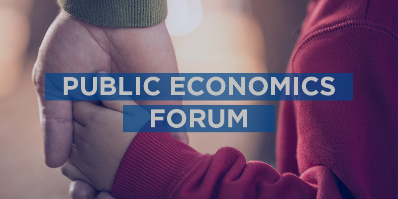 Parent and child holding hands, Public Economics Forum, 26 November, Canberra